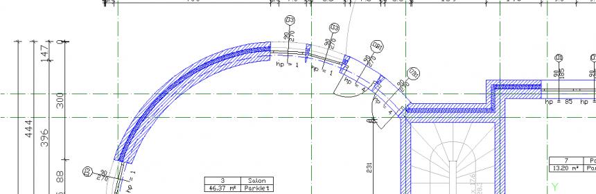 Wymiarowany rzut architektoniczny w progrmaie CAD