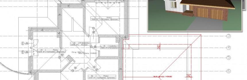 Cudowna Archiwa: więźba dachowa - ArCADia-ARCHITEKTURA - innowacyjny DO23