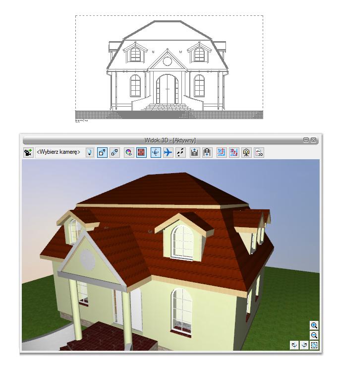ArCADia-Architektura - projektowanie dachu - facjatki