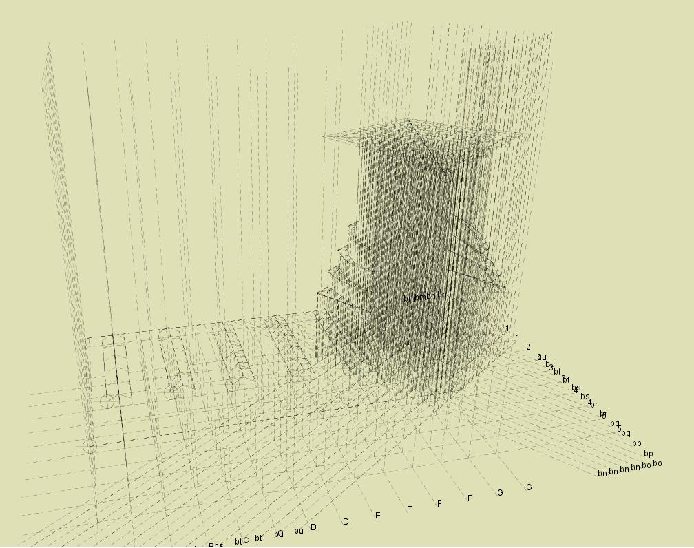 Rama 3D - analiza elementów prętowych